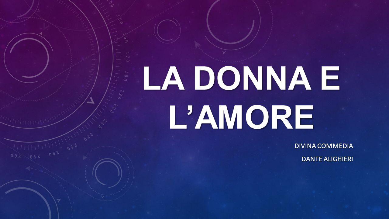 LA DONNA E L'AMORE DIVINA COMMEDIA DANTE ALIGHIERI