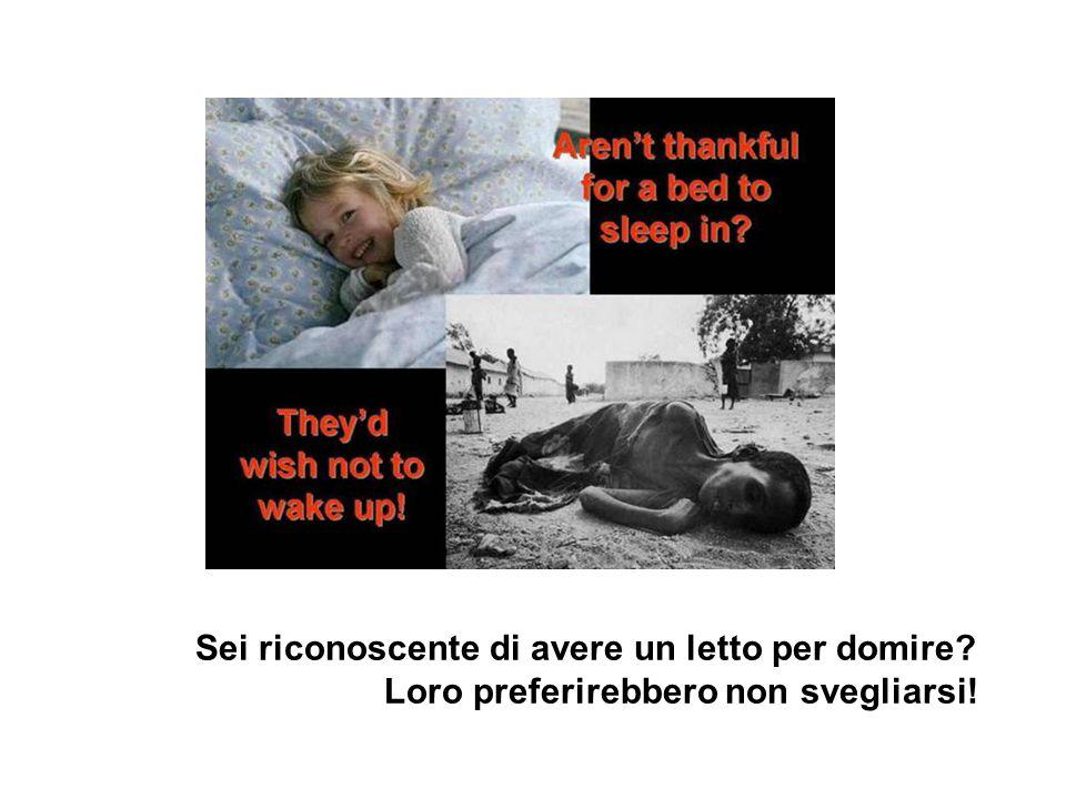 Sei riconoscente di avere un letto per domire? Loro preferirebbero non svegliarsi!