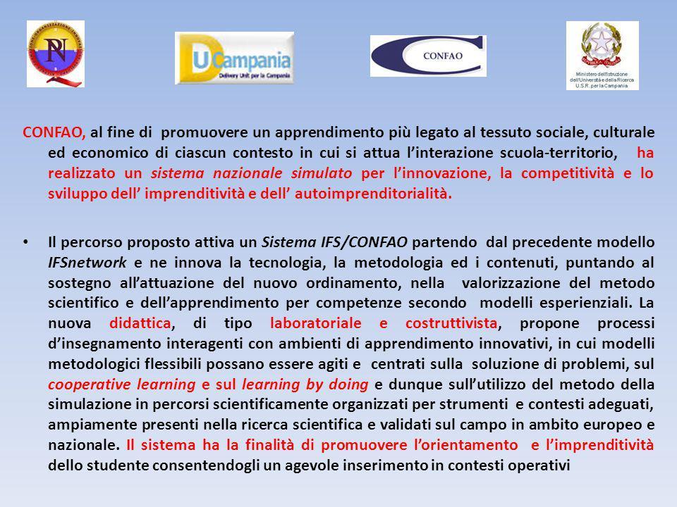 CONFAO, al fine di promuovere un apprendimento più legato al tessuto sociale, culturale ed economico di ciascun contesto in cui si attua l'interazione