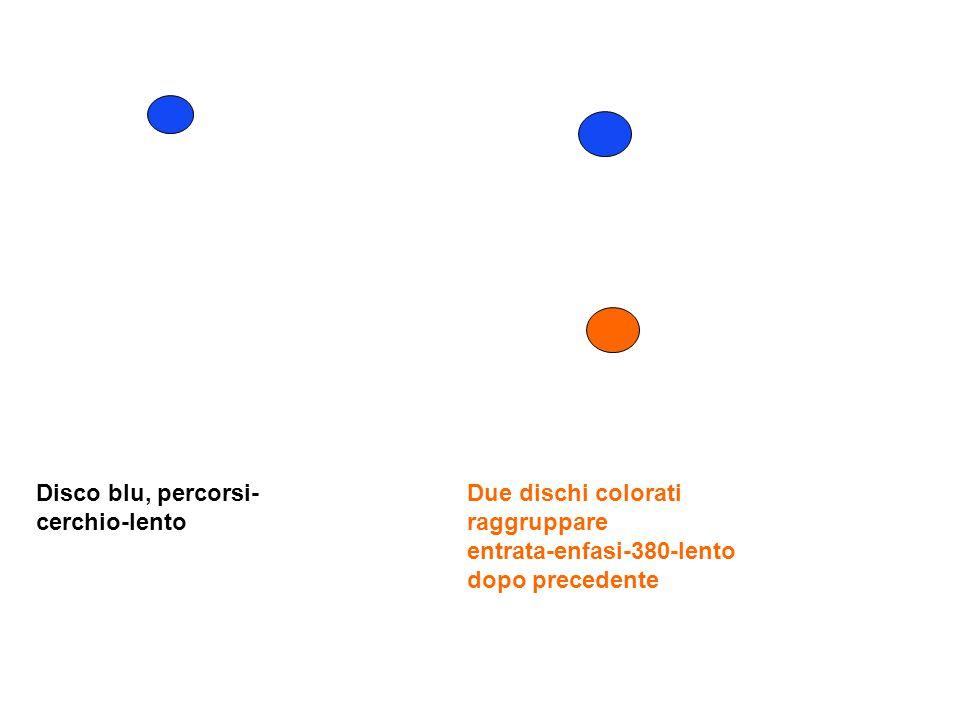 Disco blu, percorsi- cerchio-lento Due dischi colorati raggruppare entrata-enfasi-380-lento dopo precedente