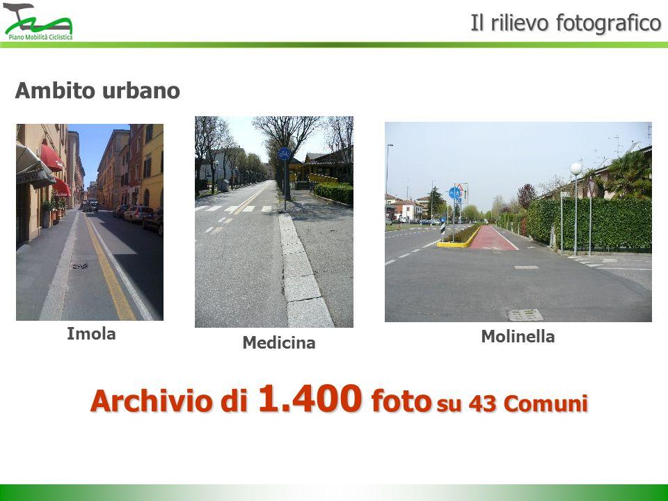 Ambito urbano Imola Medicina Molinella Archivio di 1.400 foto su 43 Comuni Il rilievo fotografico