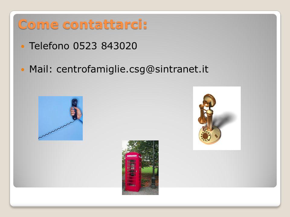 Dove si trova: La sede è a Castel San Giovanni in via Amendola 2- angolo Via Silvio Pellico.