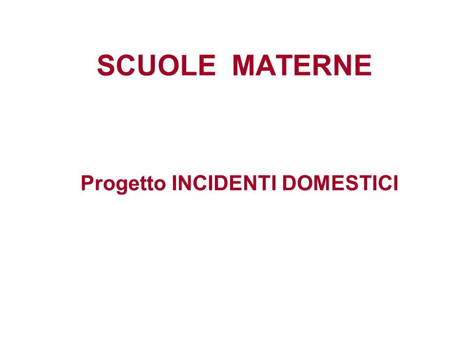 SCUOLE MATERNE Progetto INCIDENTI DOMESTICI