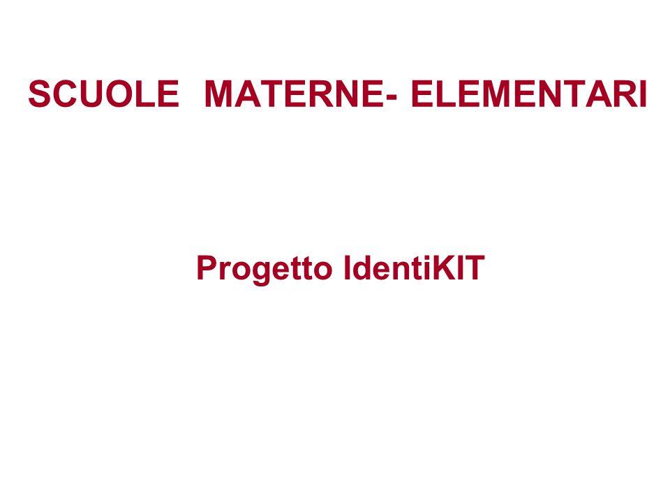 SCUOLE MATERNE- ELEMENTARI Progetto IdentiKIT