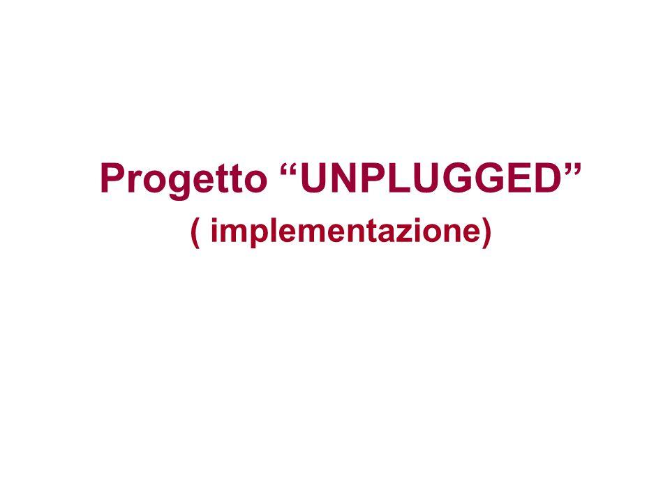 """Progetto """"UNPLUGGED"""" ( implementazione)"""