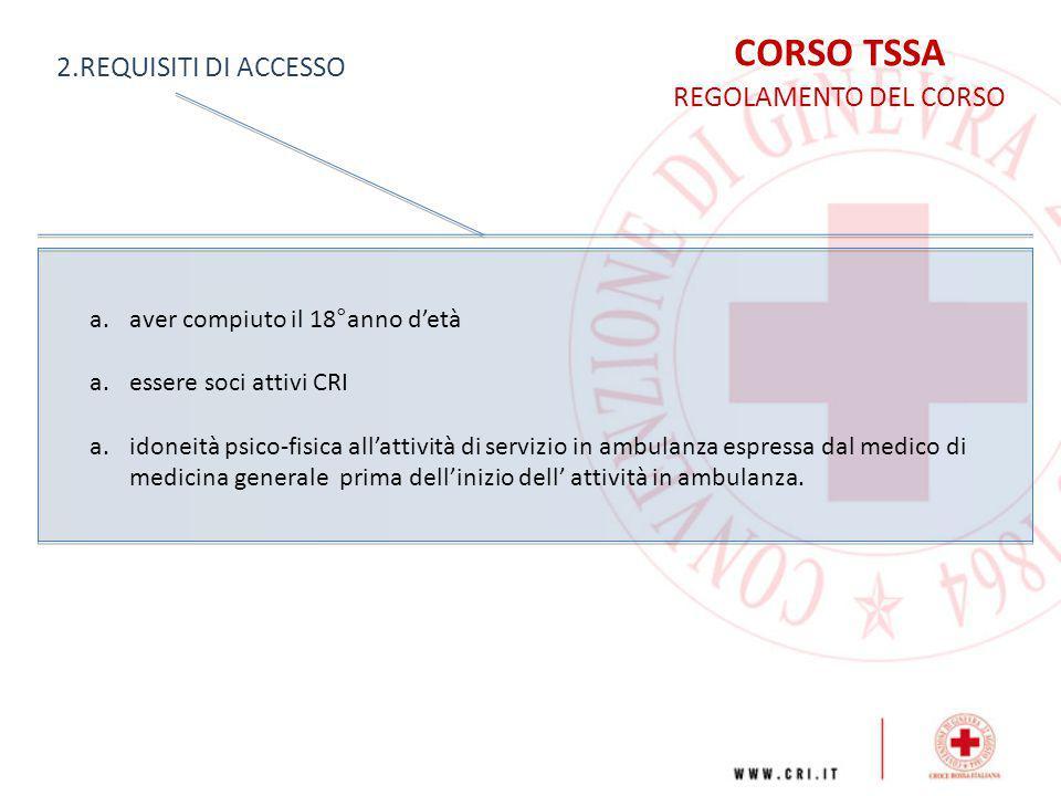 CORSO TSSA REGOLAMENTO DEL CORSO 3.
