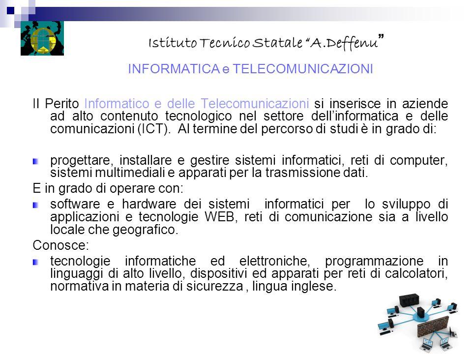 Il Perito Informatico e delle Telecomunicazioni si inserisce in aziende ad alto contenuto tecnologico nel settore dell'informatica e delle comunicazio