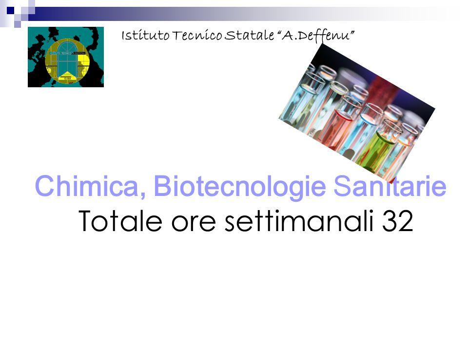 "Chimica, Biotecnologie Sanitarie Totale ore settimanali 32 Istituto Tecnico Statale ""A.Deffenu"""