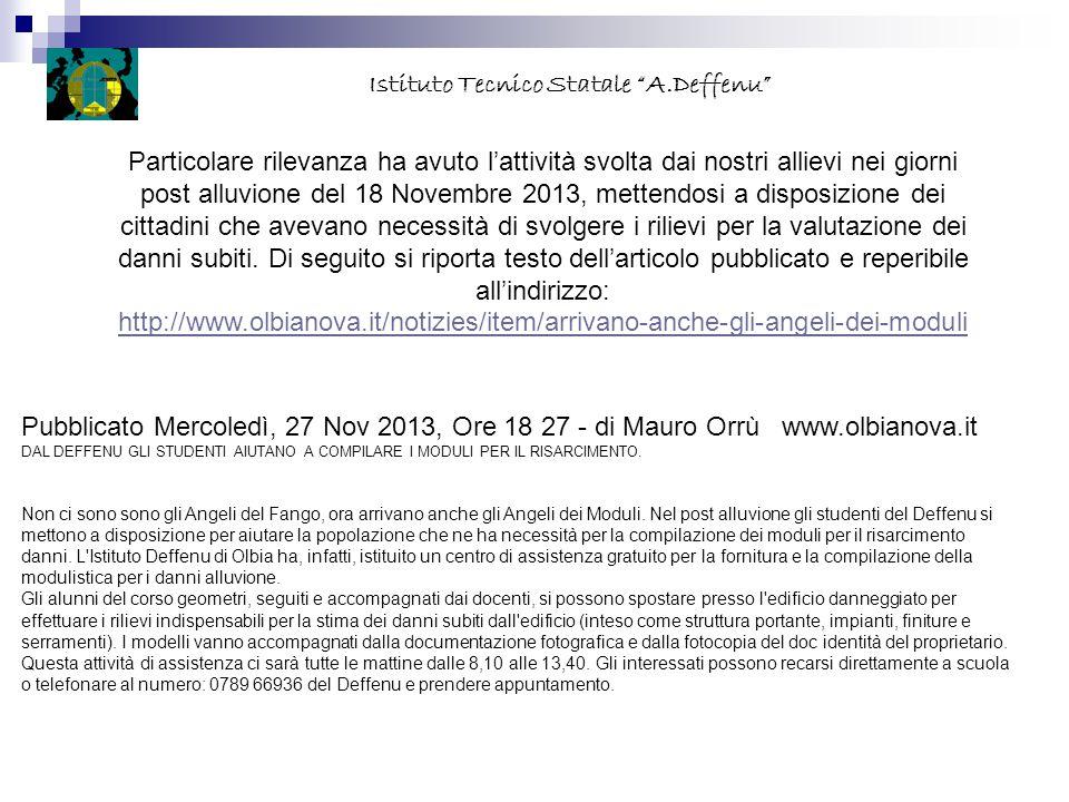CORSO Trasporti e Logistica (Aeronautico) Totale ore settimanali 32 Istituto Tecnico Statale A.Deffenu