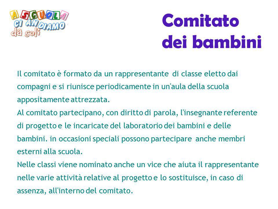 Il comitato è formato da un rappresentante di classe eletto dai compagni e si riunisce periodicamente in un'aula della scuola appositamente attrezzata