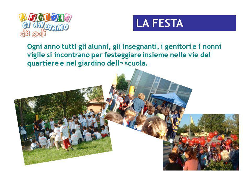 LA FESTA Ogni anno tutti gli alunni, gli insegnanti, i genitori e i nonni vigile si incontrano per festeggiare insieme nelle vie del quartiere e nel g