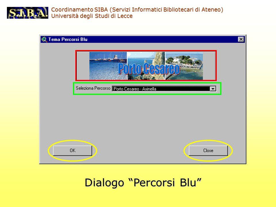Dialogo Percorsi Blu Coordinamento SIBA (Servizi Informatici Bibliotecari di Ateneo) Università degli Studi di Lecce
