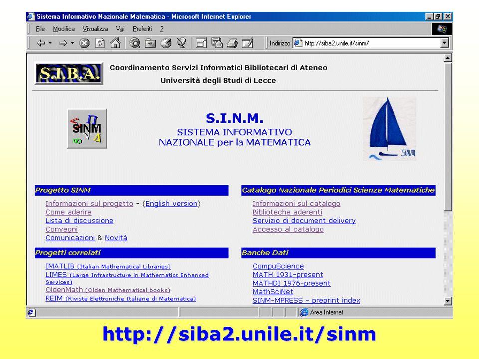 http://siba2.unile.it/sinm