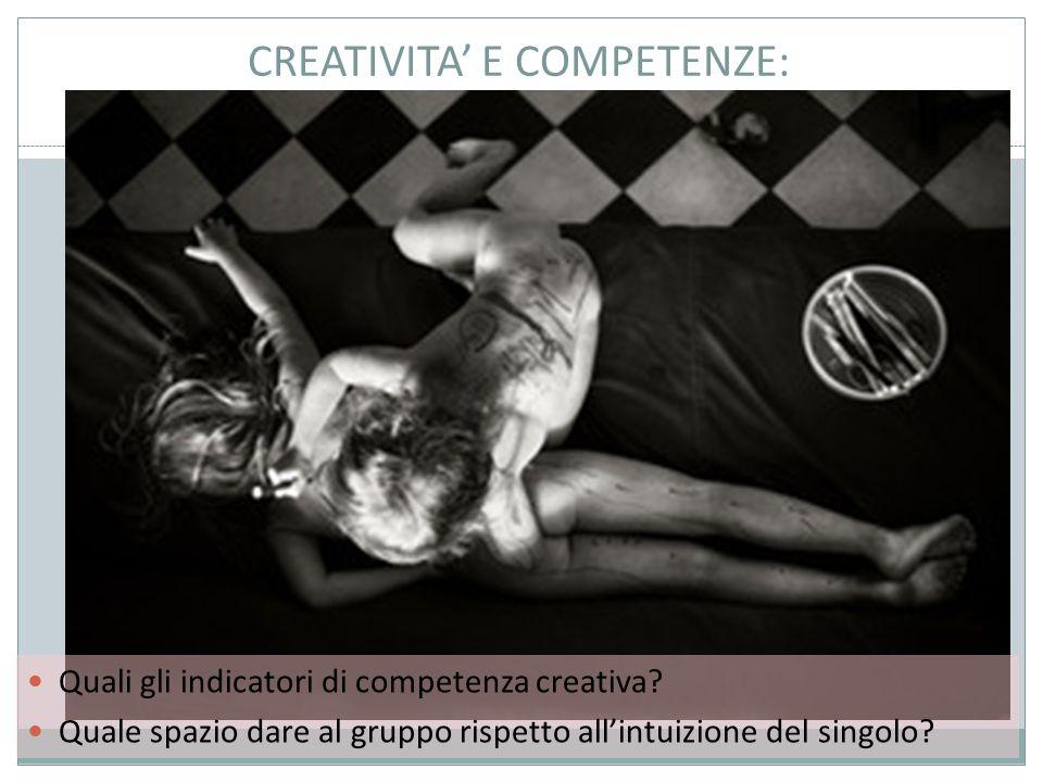 CREATIVITA' E COMPETENZE: Quali gli indicatori di competenza creativa.