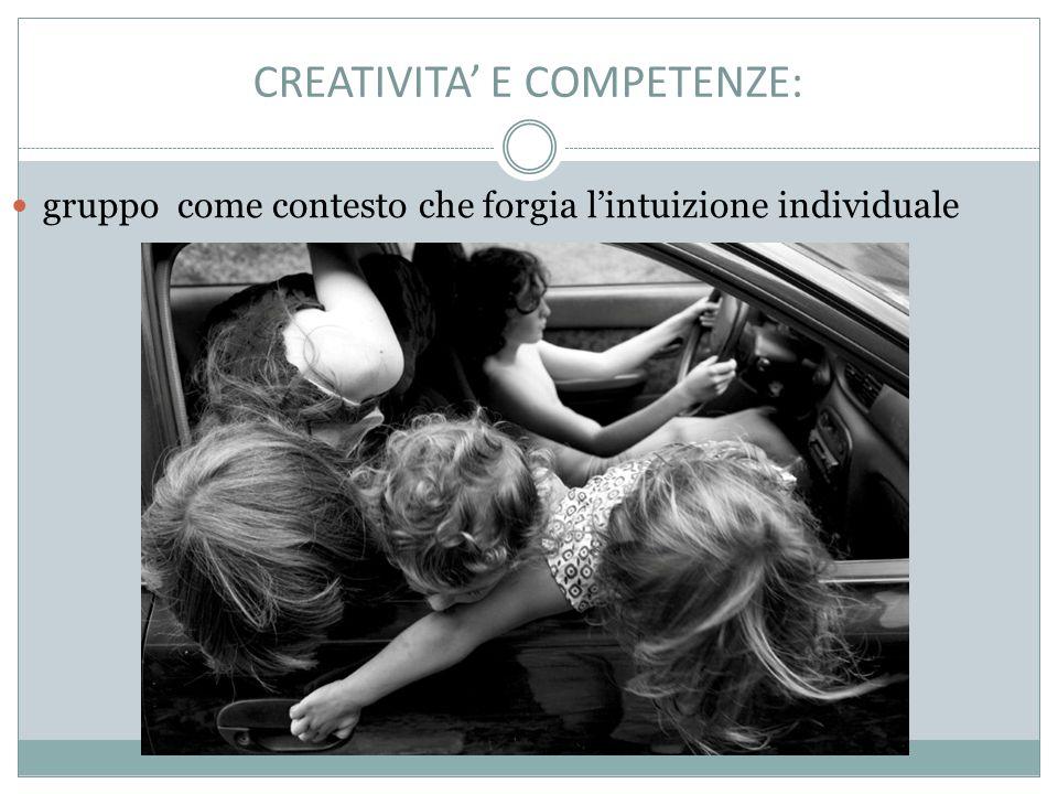 CREATIVITA' E COMPETENZE: gruppo come contesto che forgia l'intuizione individuale