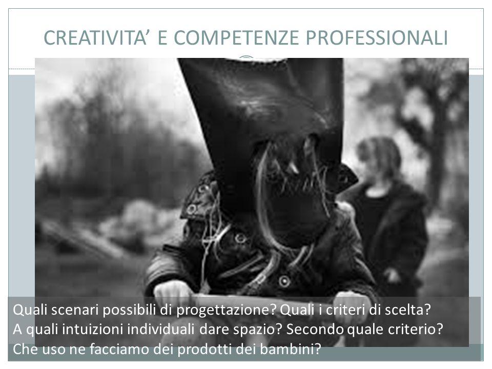 CREATIVITA' E COMPETENZE PROFESSIONALI Quali scenari possibili di progettazione.