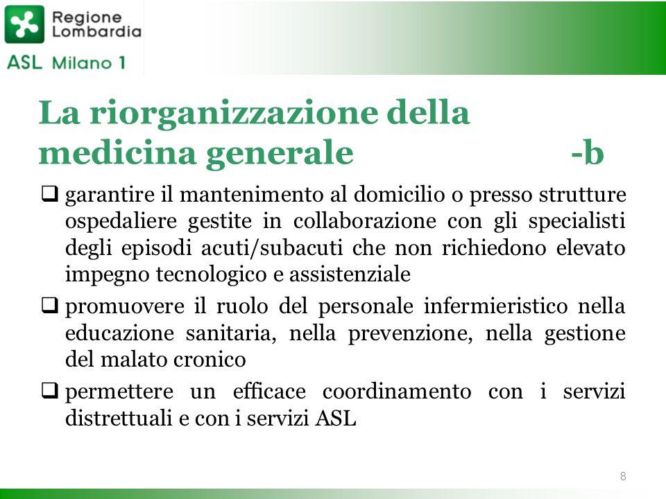 La riorganizzazione della medicina generale-b  garantire il mantenimento al domicilio o presso strutture ospedaliere gestite in collaborazione con gl