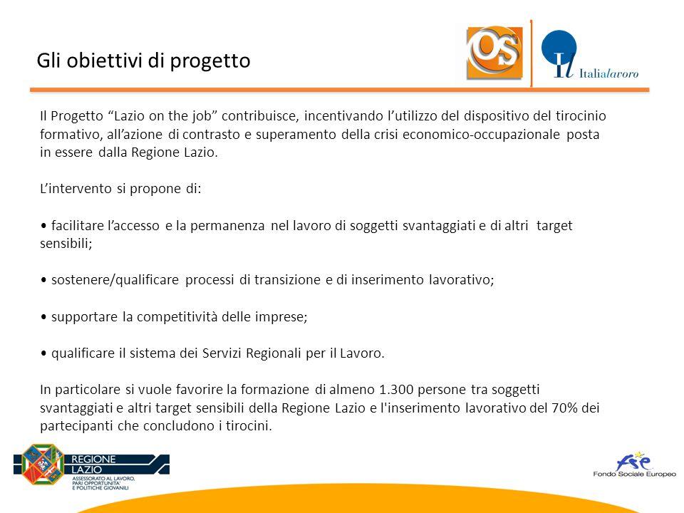 """Il Progetto """"Lazio on the job"""" contribuisce, incentivando l'utilizzo del dispositivo del tirocinio formativo, all'azione di contrasto e superamento de"""