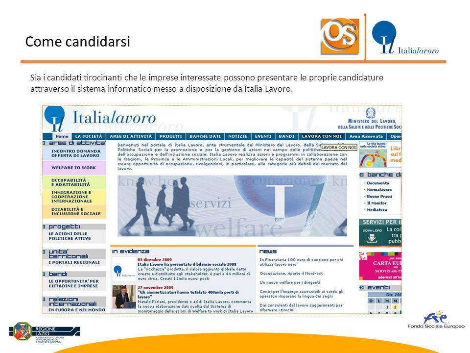 Una volta collegati al sito internet di Italia Lavoro http://www.italialavoro.it,http://www.italialavoro.it  selezionare la voce Progetti , nel menu in alto oppure a sinistra Come candidarsi
