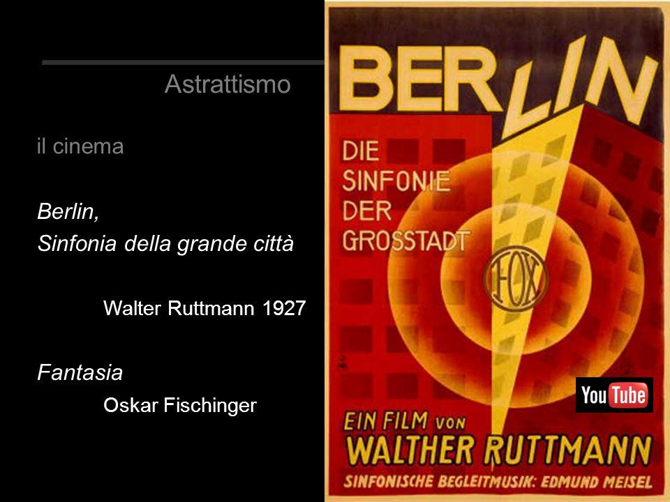 Berlin, Sinfonia della grande città Walter Ruttmann 1927 Fantasia Oskar Fischinger il cinema Astrattismo