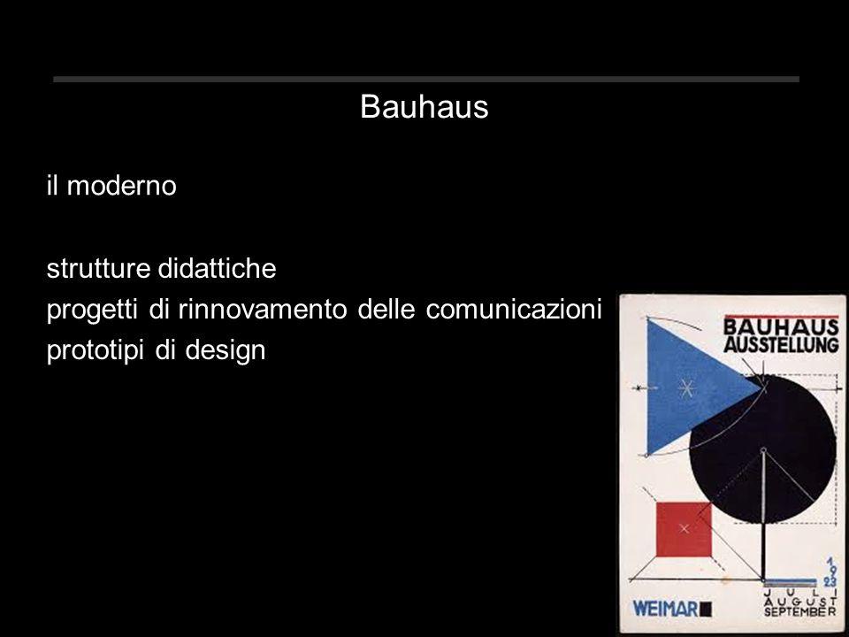 Bauhaus strutture didattiche progetti di rinnovamento delle comunicazioni prototipi di design il moderno