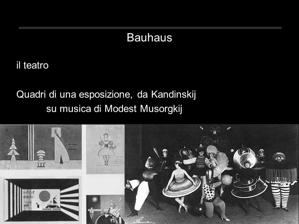 Bauhaus Quadri di una esposizione, da Kandinskij su musica di Modest Musorgkij il teatro