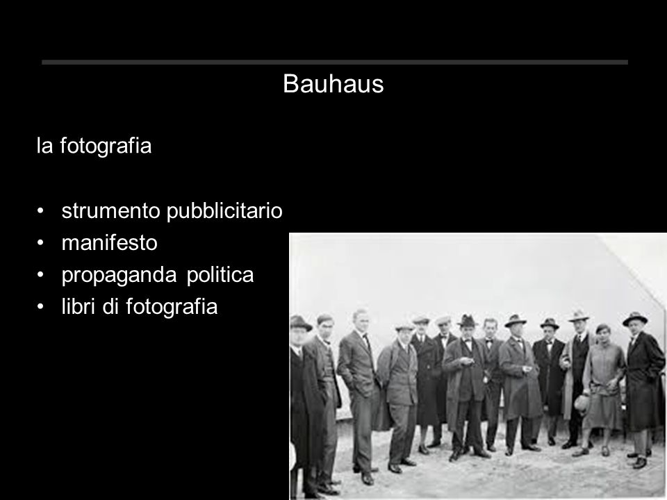 Bauhaus strumento pubblicitario manifesto propaganda politica libri di fotografia la fotografia