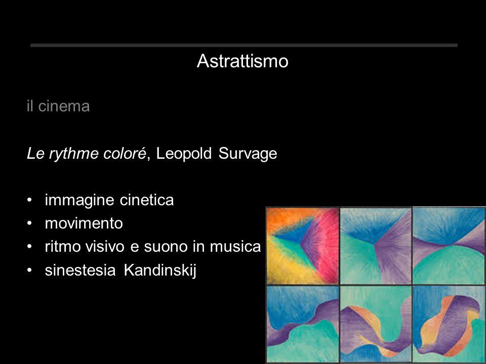 Astrattismo Le rythme coloré, Leopold Survage immagine cinetica movimento ritmo visivo e suono in musica sinestesiaKandinskij il cinema