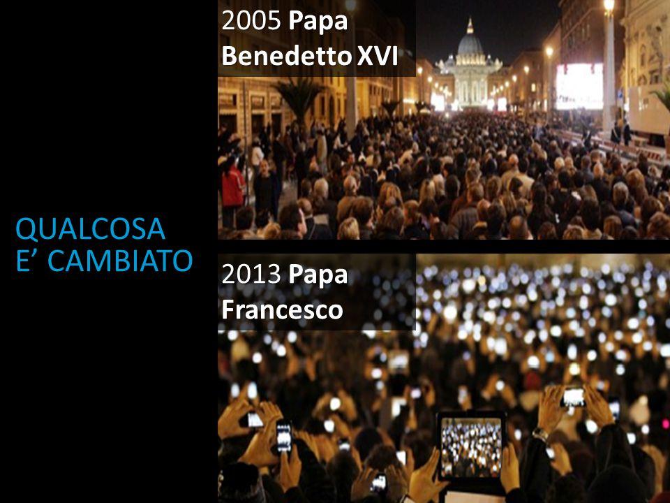 2005 Papa Benedetto XVI QUALCOSA E' CAMBIATO 2013 Papa Francesco
