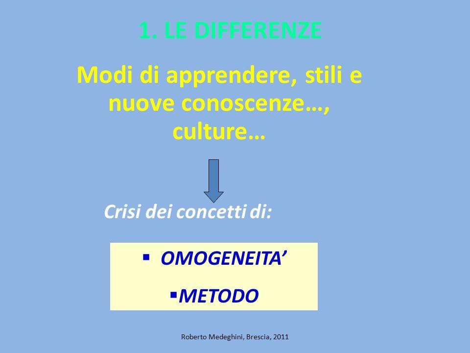 2.I CONTESTI «... per esistere, le differenze...