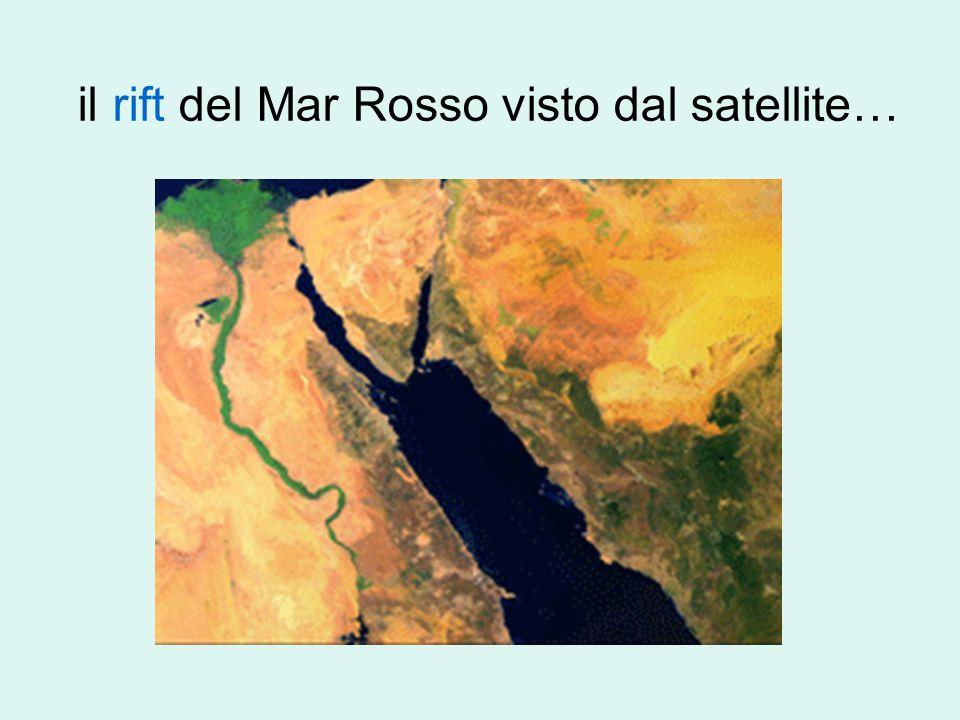 …un po' di geologia… rift detto del Mar Rosso : una grande fossa di sprofondamento formatasi almeno 4/5 milioni di anni fa.rift
