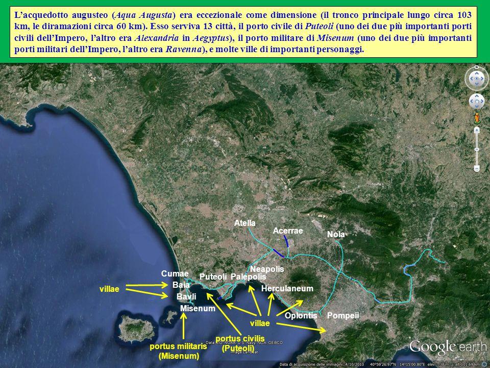 Atella Nola Neapolis Pompeii Cumae Acerrae Bavli Baia Herculaneum Misenum villae Oplontis PalepolisPuteoli portus civilis (Puteoli) portus militaris (