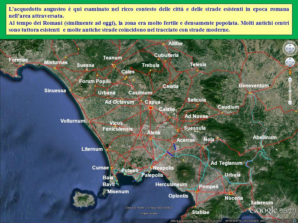 Quarto segmento - Dai punti di diramazione per Nola e Pompeii al punto di ditamazione per Acerrae (50 -> 47 m slm; 13,8 km) + Diramazione per Acerrae (6 km).
