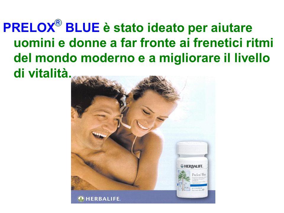 PRELOX BLUE è stato ideato per aiutare uomini e donne a far fronte ai frenetici ritmi del mondo moderno e a migliorare il livello di vitalità. R