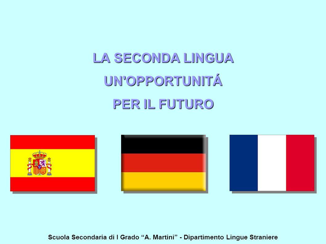 """LA SECONDA LINGUA UN'OPPORTUNITÁ PER IL FUTURO Scuola Secondaria di I Grado """"A. Martini"""" - Dipartimento Lingue Straniere"""