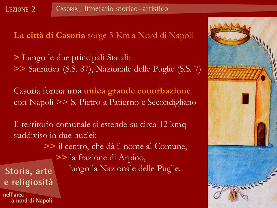 La città di Casoria sorge 3 Km a Nord di Napoli > Lungo le due principali Statali: >> Sannitica (S.S. 87), Nazionale delle Puglie (S.S. 7) Casoria for