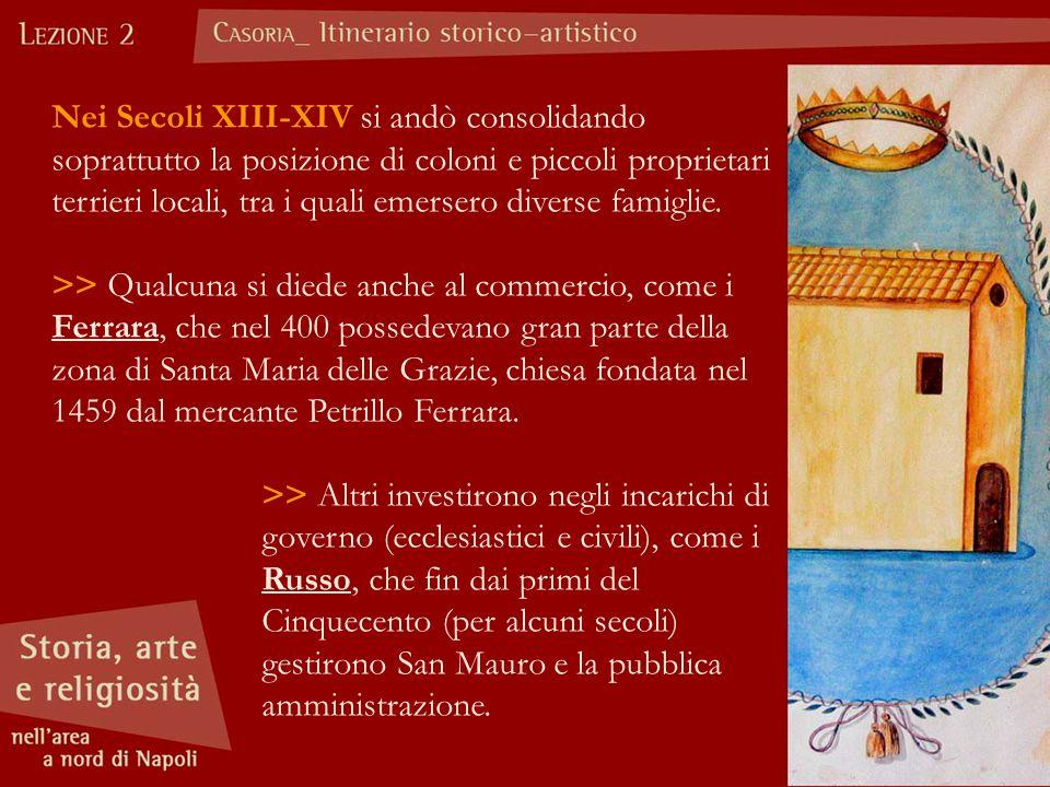 GLI ISTITUTI RELIGIOSI L'opera di padre Ludovico ebbe grande influenza anche sul territorio di Casoria, dove nella seconda metà dell'Ottocento si insediarono diversi istituti religiosi.