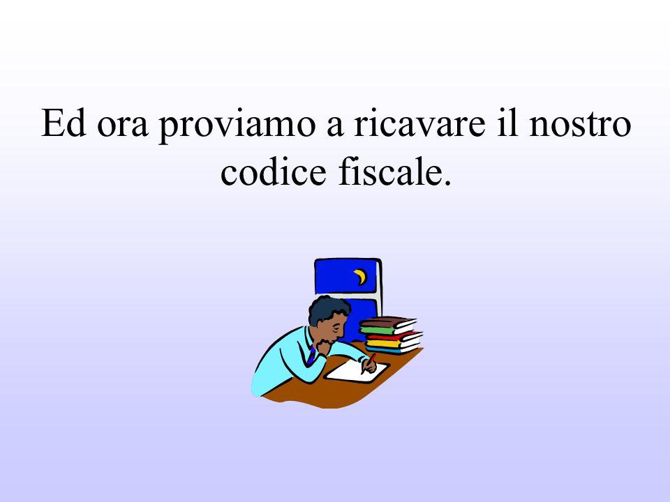 Il codice fiscale è un'espressione alfanumerica formata da 16 caratteri fra numeri e lettere.