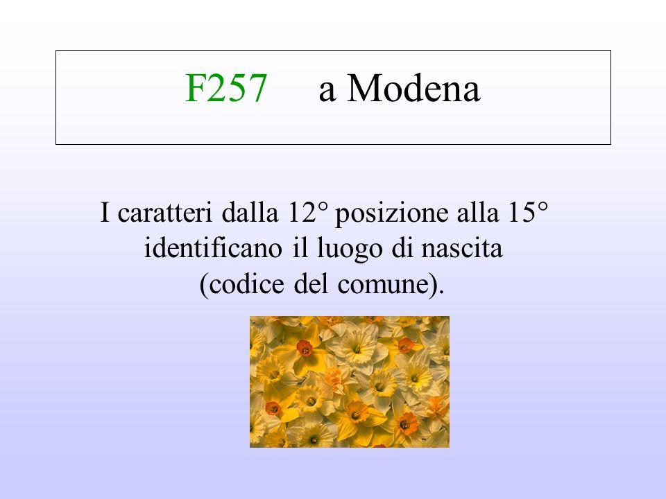 P 58il 18 settembre Il nono carattere è una lettera che rappresenta il mese di nascita. I successivi due numeri sono il giorno di nascita (per le donn