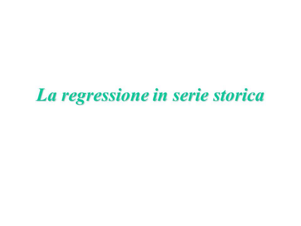 La regressione in serie storica