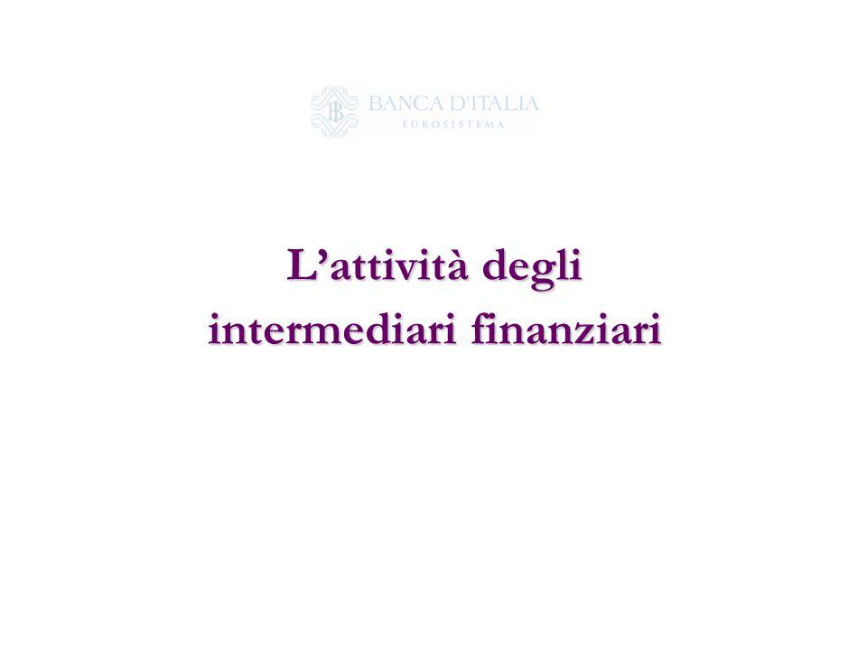 L'attività degli intermediari finanziari