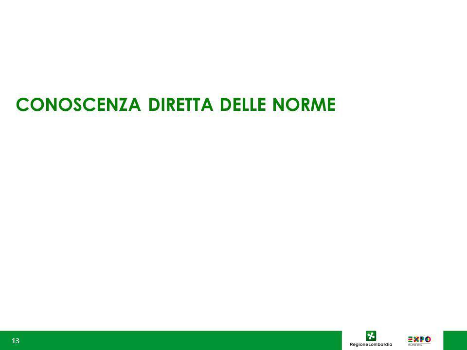 CONOSCENZA DIRETTA DELLE NORME 13