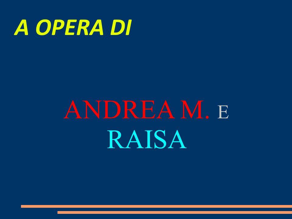 A OPERA DI ANDREA M. E RAISA