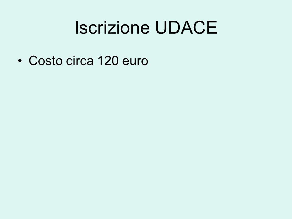 Iscrizione UDACE Costo circa 120 euro