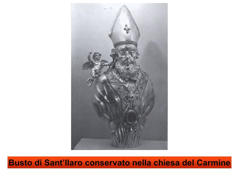 Busto di Sant'Ilaro conservato nella chiesa del Carmine