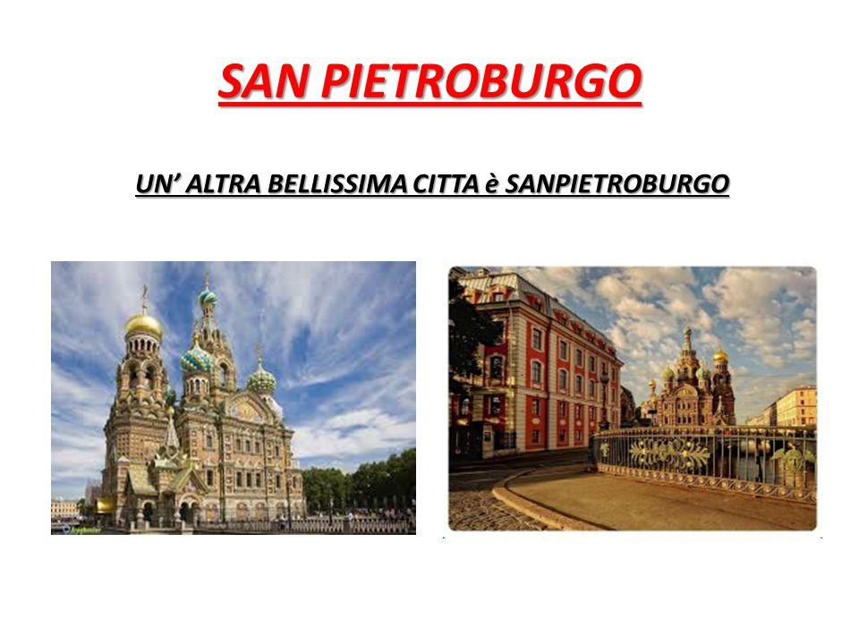 SAN PIETROBURGO UN' ALTRA BELLISSIMA CITTA è SANPIETROBURGO