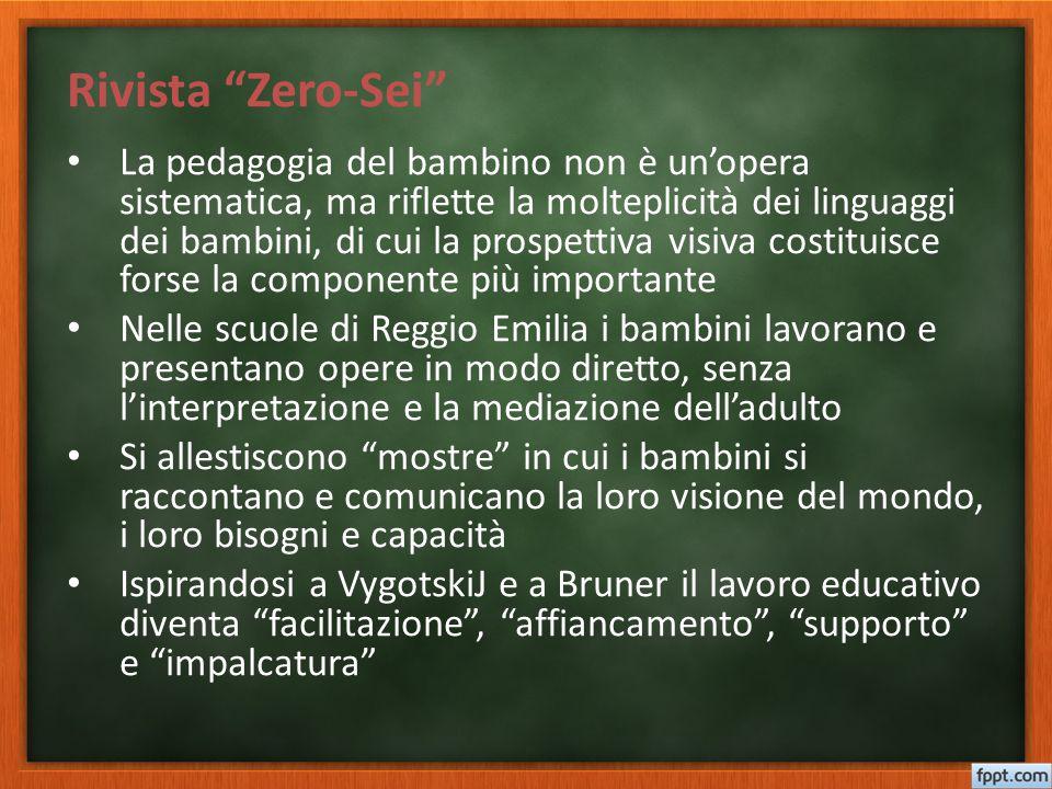 """Rivista """"Zero-Sei"""" La pedagogia del bambino non è un'opera sistematica, ma riflette la molteplicità dei linguaggi dei bambini, di cui la prospettiva v"""