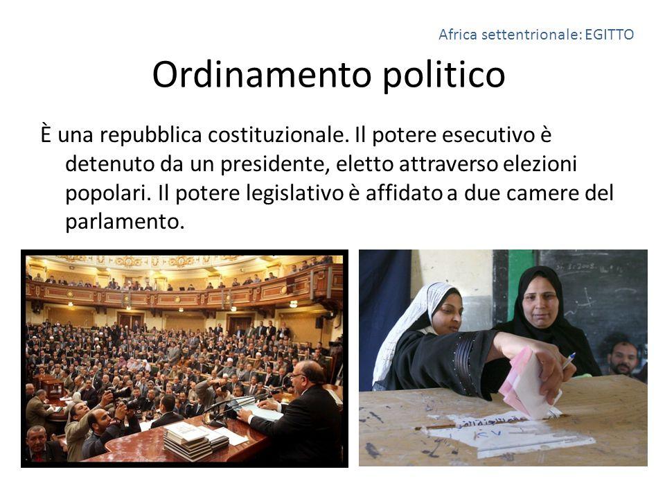 Ordinamento politico È una repubblica costituzionale. Il potere esecutivo è detenuto da un presidente, eletto attraverso elezioni popolari. Il potere