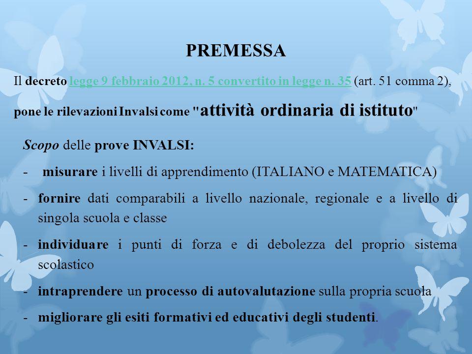 PREMESSA Il decreto legge 9 febbraio 2012, n.5 convertito in legge n.