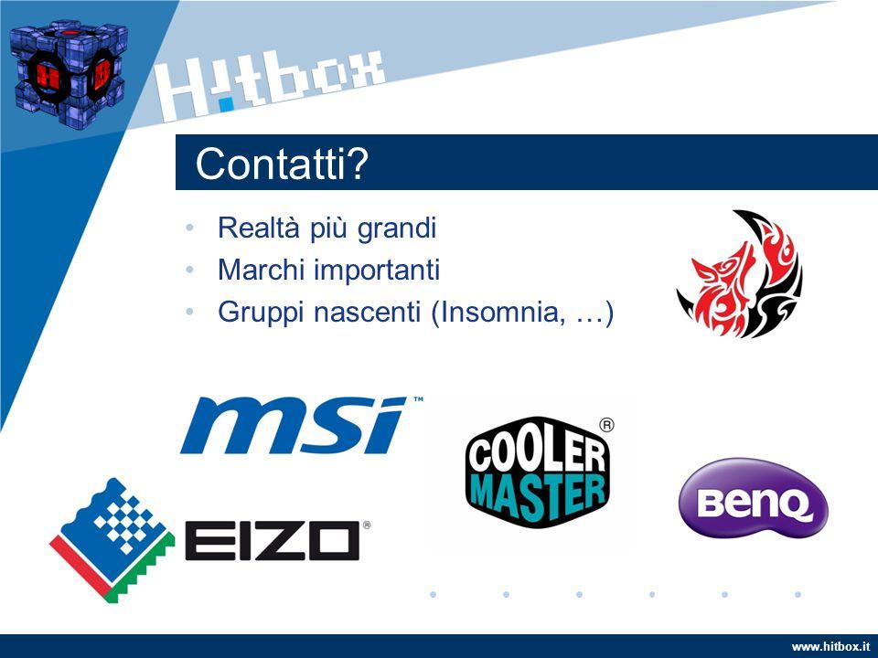 www.hitbox.it Contatti Realtà più grandi Marchi importanti Gruppi nascenti (Insomnia, …)